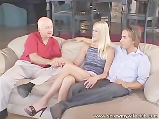 charming blond wife drilled and had a facial