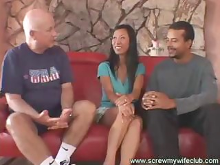 hawt oriental wife acquires spanked and screwed
