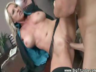 blond secretary d like to fuck drilled and