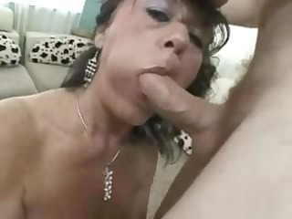 breasty older debella eats his rod and gets