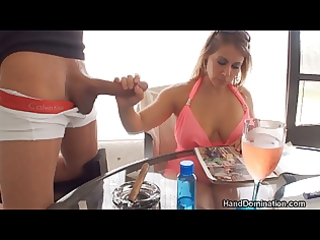 femdom tugjob by breasty d like to fuck