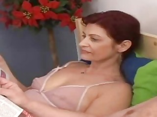 lustful granny engulfing old penis in the daybed
