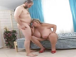 biggest grandmother engulfing fortunate old