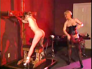 aged goddess and her juvenile serf in bdsm action