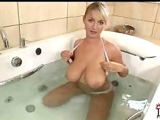 my beauties breasty mom showering jannete