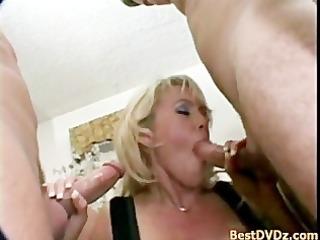 slutty blond milf enjoying dicks
