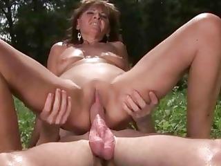 granny enjoys hawt sex with lad outdoor