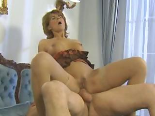 breasty golden-haired aged enjoys a hard penis