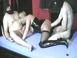 non-professional wife fisted by her hubby and his