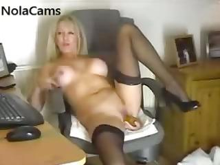 stylish mother i in nylon nylons
