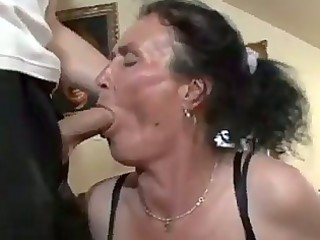 busty dark brown granny acquires naughty cookie
