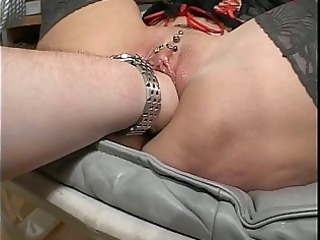 granny floozy acquires fisted and toy fucked!