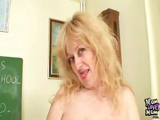 breasty d like to fuck teacher bonks herself with