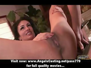 breasty dark brown mother i does blow job and