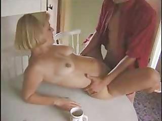 mature kitchen fuck