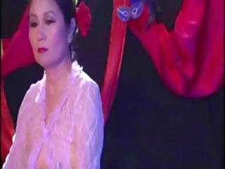 oriental granny acquires handled by guys and gets