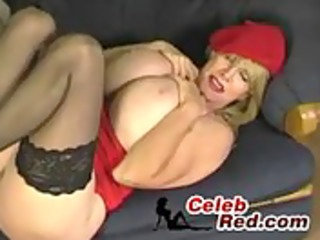 breasty hot aged woman teasing with her scones
