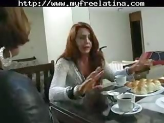 aged brazilian redheaded mama receives hammered