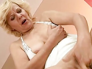 excited granny enjoys hard sex