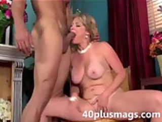 golden-haired aged beauty willing to play