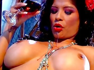 charming darksome haired milf with giant bosom