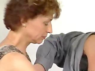 inflexible schlong for older german lady