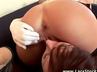 aged stocking british lesbo oral-job