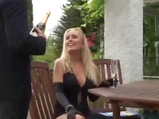 unknown blond aged mother screwed in public