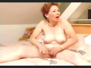 great masturbation of my pervert aged wife. get