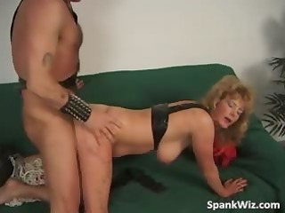 breasty milf receives her booty spanked part3