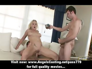 cute golden-haired d like to fuck with large tits