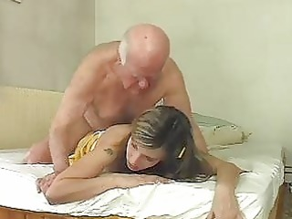 hawt golden-haired bunny shags with old aged hunk