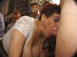 breasty french older sucks weenie with a younger