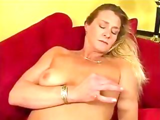 golden-haired milf ivy love in nylons eats dong