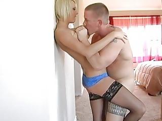 breathtaking breasty teen blond wife receives her