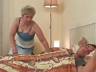 large marangos golden-haired granny taking sw...