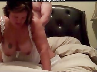 Bbw wife rammed in white stockings
