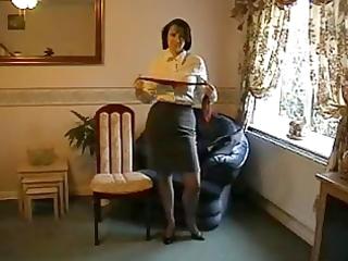 teasing milf in nylon nylons and heels