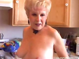 very hot grandma has a soaking wet pussy