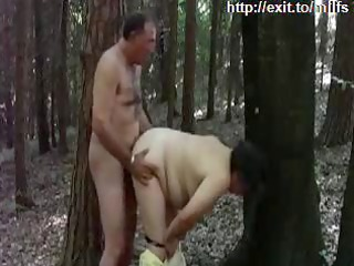 mother drilled by a stranger in nature