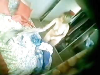 pretty mum caught fully bare in bedroom. hidden