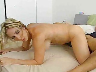 golden-haired mother i strips orange underware