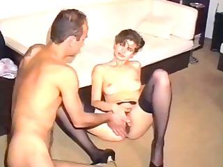 unshaved older in nylons - austrian