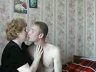 sexy blond older lady shags with lascivious