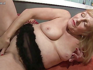 amateur whore grandmother playing with her juicy