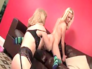 teenage lesbian siren making out with lesbo milf