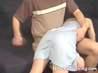 non-professional thrashing his sexy wife