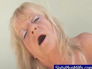 indecent old granny engulfing a biggest dark