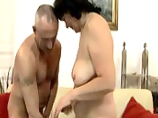 old granny riding dick with a dildo in her a-hole