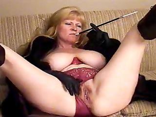 big beautiful woman older taping herself